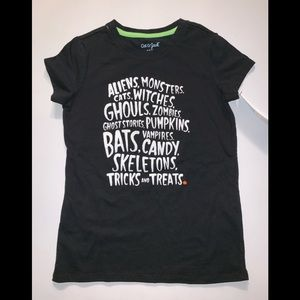 Halloween Cat and Jack kids Shirt Black NWT